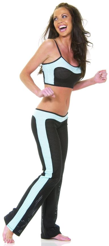 Sexy & Sporty Crop Top & Pant Set