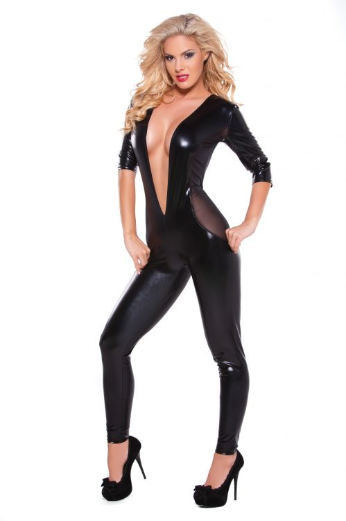 Wetlook & Mesh Catsuit
