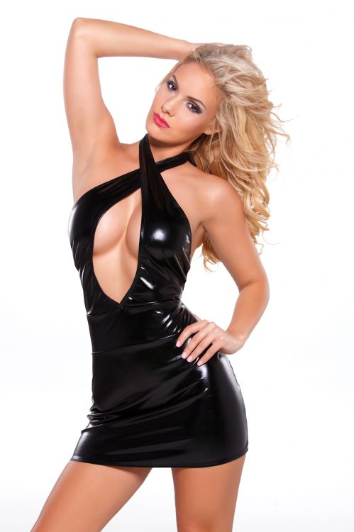 Wetlook Criss Cross Dress