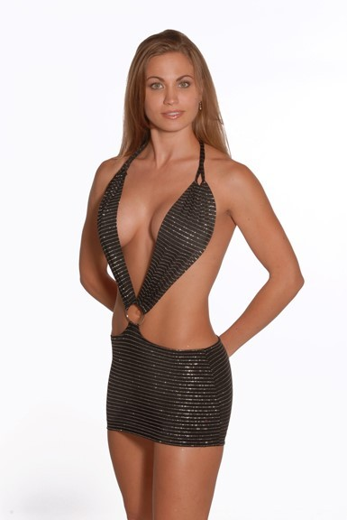 Halter Daring O-Ring Dress
