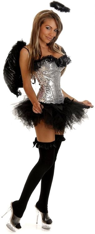 Angel-Sequin Dark Angel