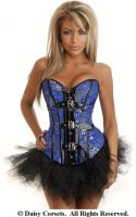 Brocade Buckle Burlesque Corset & Pettiskirt