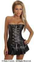 Faux Leather Chains Corset & Skirt