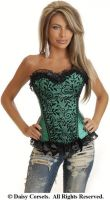 Emerald Vines Burlesque Corset
