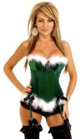 Holiday Helper Velvet Corset