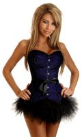 Strapless Purple Lace Fantasy Corset & Pettiskirt