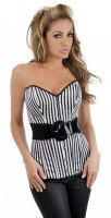 Strapless Belted Long Line Corset