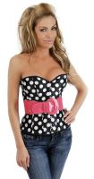 Retro Strapless Belted Corset