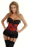Lace Overlay Peasant Corset