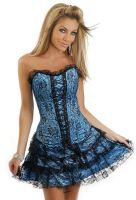 Teal Lace Corset Dress
