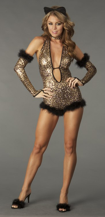 Cat-Shimmer Leopard - Sexy Costumes - Sexy Dresses, Sexy Gowns, Sexy Lingerie, Sexy Costumes, & Sexy Clubwear! at Danger Kitty Fashions! - (Powered by CubeCart)