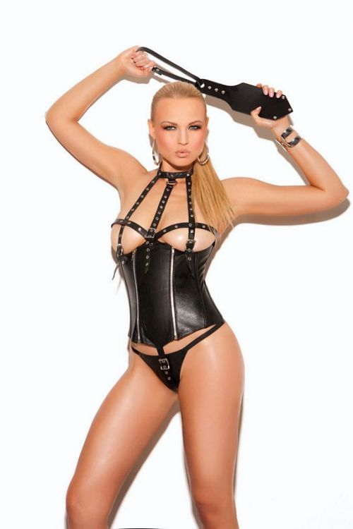 Leather Cupless Teddy