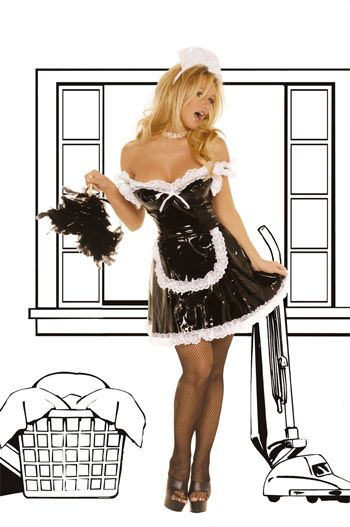 French Maid-Vinyl Maid Costume