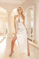 Halter Keyhole Gown