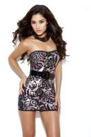 Belted Strapless Mini Dress
