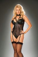 Leather & Fishnet Teddy