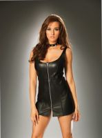 Leather Zip Front Dress