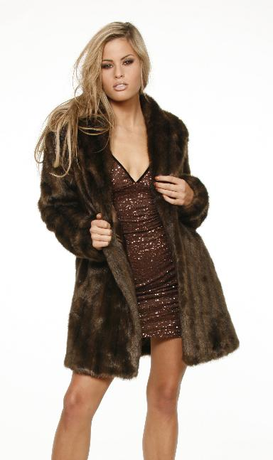 Chocolate Mink Faux Fur Coat