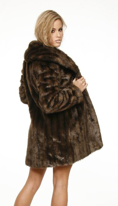 Chocolate Mink Faux Fur Coat Street Casuals Sexy