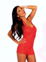 Pin Up Girl Romper