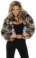 Cross Front Cropped Jacket w/Hood