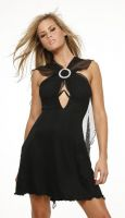Black Rhinestone Ring Dress