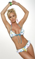 Multi Bubble Tie Front Ruffle Bikini Top & Rio Bottom