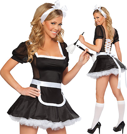 French Maid Sweetheart - Sexy Costumes - Sexy Dresses, Sexy Gowns, Sexy Lingerie, Sexy Costumes, & Sexy Clubwear! at Danger Kitty Fashions! - (Powered by CubeCart)
