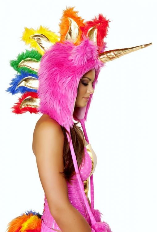 Hot Pink Unicorn Hood