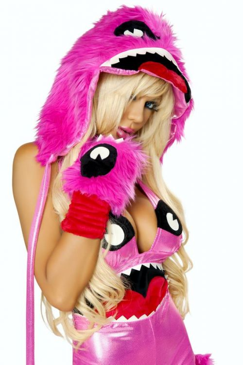 Pink Monster Gloves