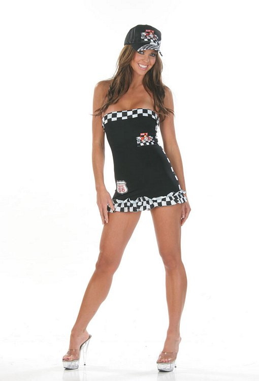 Racer-Speedy Racer Girl - Sexy Costumes - Sexy Dresses, Sexy Gowns, Sexy Lingerie, Sexy Costumes, & Sexy Clubwear! at Danger Kitty Fashions! - (Powered by CubeCart)