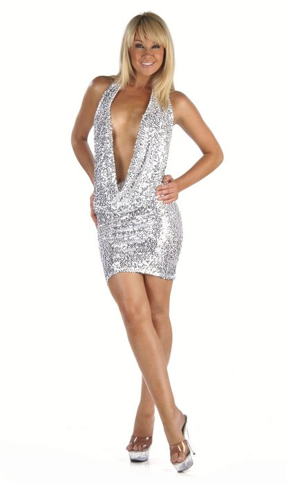 Draping Sequin Dress