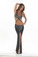 Crossover Rhinestone Gown