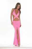 Crossover Halter Gown