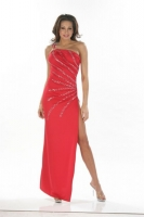 One Shoulder O-Ring Gown