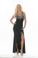 Buckle Rhinestone Gown