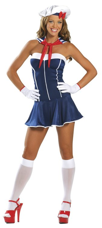 Sailor-3 Piece Sexy Sailor Costume - Sexy Costumes - Sexy Dresses, Sexy Gowns, Sexy Lingerie, Sexy Costumes, & Sexy Clubwear! at Danger Kitty Fashions! - (Powered by CubeCart)