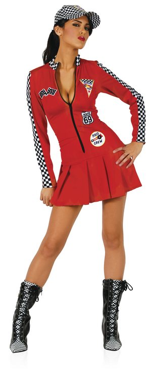 Racer Girl (Red) - Sexy Costumes - Sexy Dresses, Sexy Gowns, Sexy Lingerie, Sexy Costumes, & Sexy Clubwear! at Danger Kitty Fashions! - (Powered by CubeCart)