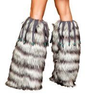 Leg Warmers with Beaded Fringe