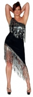 One Shoulder Gown w/Sequin Fringe Trim