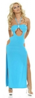 Hot & Sensual Cut Out Gown w/Rhinestones