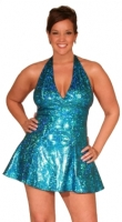 Hologram Halter Dress