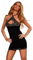 Keyhole Rhinestone Dress