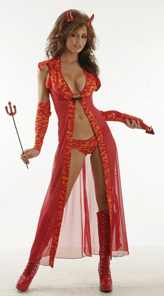 Devil-Sexy 7 Piece Devil Costume - Sexy Costumes - Sexy Dresses, Sexy Gowns, Sexy Lingerie, Sexy Costumes, & Sexy Clubwear! at Danger Kitty Fashions! - (Powered by CubeCart)