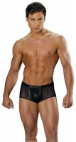Mens Leather & Fishnet Shorts