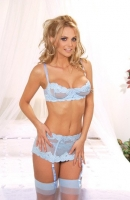 Embroidered Mesh Garter Set